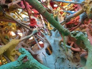 The interior of a structure next door to Salvation Mountain reminds some of a Dr. Seuss illustration.